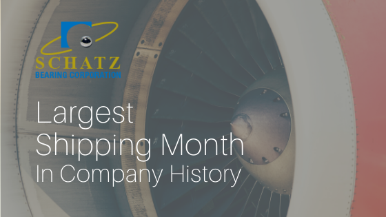 "Blog Title Image - ""Largest Shipping Month In Company History - Schatz Bearing"""