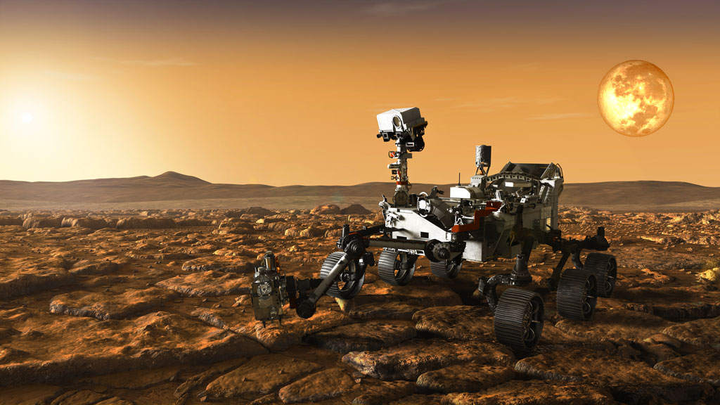 rover on the surface of mars