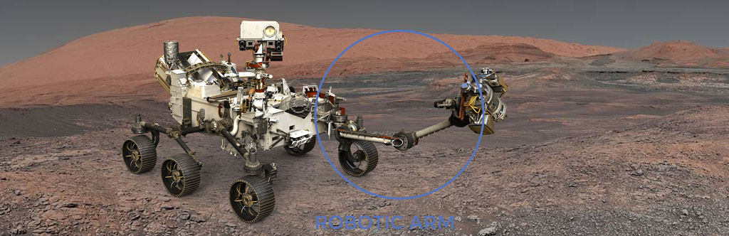 Nasa Location of Schatz Bearings in Perseverance Rover Arm